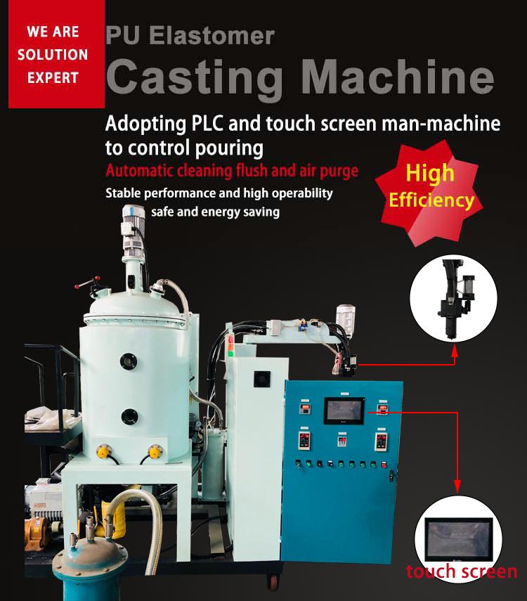 middle temperature pu foam polyurethane elastomer casting machine